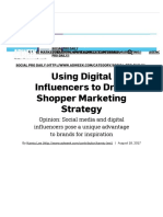 Using Digital Influencers to Drive Shopper Marketing Strategy