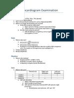 Electrocardiogram Examination