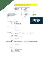 Perhitungan Sedimen Excel