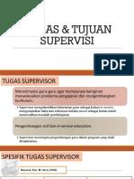TUGAS & TUJUAN SUPERVISI