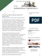 Locos por el neoliberalismo. Capitalismo y subjetividad