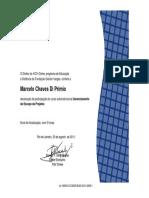 Certificado Gerenciamento Do Escopo de Projetos