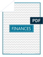 Finance Cover Page