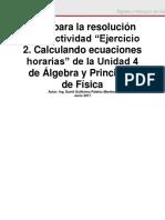 01 Unidad 4 - Ejercicio 2. Calculando Ecuaciones Horarias - Guía de Resolución (1)