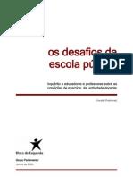 Inquérito a Docentes 2008 (Versão Preliminar do Relatório)