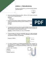 Guia de  Hidrostática e  hidrodinámica