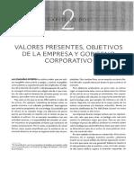 Cp_2_valores Presentes, Objetivos de La Empresa y Gobierno Corporativo
