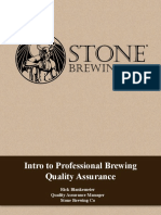 2015 AHA Intro to Professional Brewing Quality Assurance