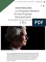 Is Queen Elizabeth Related to the Prophet Muhammad? - History in the Headlines