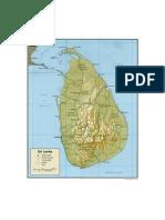 Mapa Ceilán