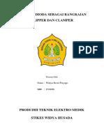 Aplikasi Dioda Sebagai Rangkaian Clipper Dan Clamper