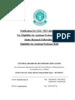 UGC NET July_2018 Bulletin