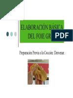 Elaboracion Basica Del Foie Gras