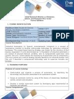 Syllabus of the Automatización Industrial Course