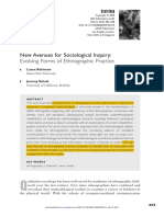 ROBINSON; SCHULZ. New Avenues for Sociological Inquiry. Evolving Forms of Ethnographic Practice