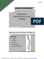 Biomecanica e Cinesiologia Da Coluna Vertebral.