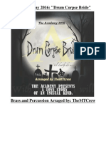 The Academy 2016 Drum Corpse Bride - Full Show - Read Description - Updated 1230-Parts