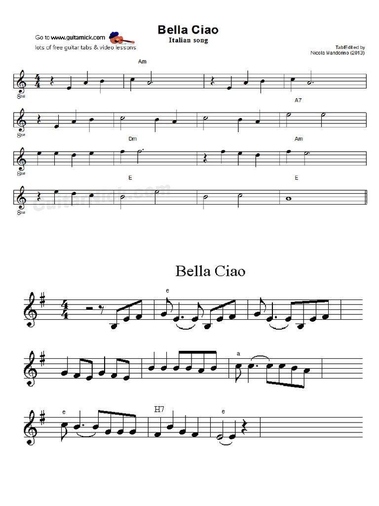 Bella Ciao La M Y Mi M