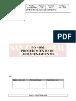 PO-001 Proc. de Almacenamiento