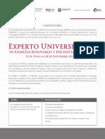 CONVOCATORIA_Experto Universitario en Energías Renovables 2017