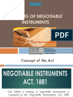 Negotiable Instruments Modified