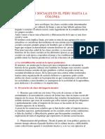 Las Clases Sociales en El Peru Hasta La Colonia