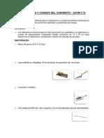 Elaboracion y Curado Del Concreto (Sin Aditivo)
