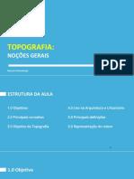 Topografia Aula 01 - Noções Gerais Objetivos e Divisão