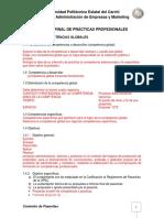 Estructura Proyecto Practicas Pre- Profesionales UPEC