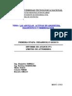 Arcillas Activas en Argentina