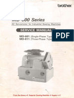 Brother MD-601, -611 AC Servomotor Service Manual