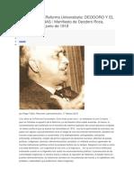 Reforma Universitaria Manifiesto, InTRO de TATIAN