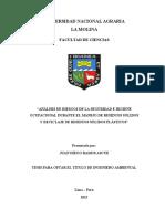 1análisis de Riesgos de La Seguridad e Higiene y Sso Manejo de Residuos Solidos Plasticos Unalm 2015