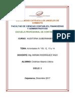 Actividades N.° 09, 12, 13 y 14  Auditoria Gubernamental