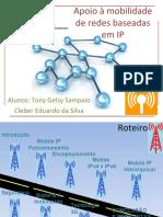 Apoio à mobilidade de redes baseadas em IP