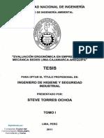 1evaluación Ergonómica en Empresa Metal Mecánica Uni 2011
