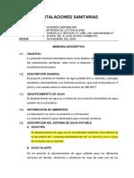 Memoria Descriptiva Vivienda Comercio 10-11-2017