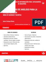 Herramientas de Análisis Para La Investigación - Web of Science y Scopus