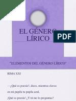Género Lírico (Elementos) 2015 1m