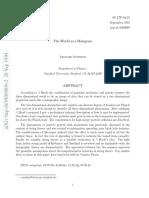 The World as a hologram - Leonard Susskind.pdf