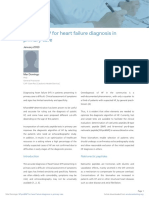 NTproBNP for Heart Failure Diagnosis in Primary Care