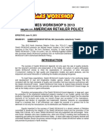 Games Workshop 2013 Retailer Policy