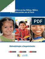 Gasto Público en Las Niñas, Niños y Adolescentes en El Perú Metodología y Seguimiento