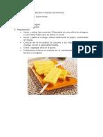 Receta Paletas de Mango