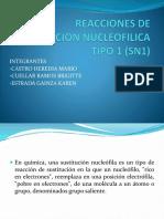 Reacciones de Sustitucion Nucleofilica Tipo 1 Sn1