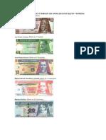 Nombre de Los Personajes o Simbolos Que Aparecen en Los Billetes y Monedas