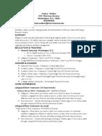 Kayla Walker's Resume