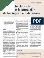 La Acreditación y La Mejora en La Formacion Delos Ingenieros de Minas