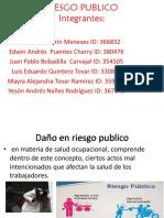 Riesgo Publico Diapositivas