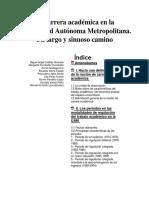 La Carrera Académica en La Universidad Autónoma Metropolitana